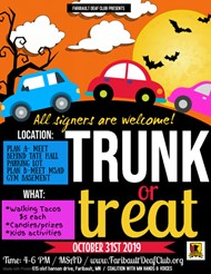 Image of Trunk or Treat Flyer. Description is in the main body of the post.